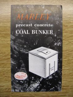 MARLEY-PRECAST-CONCRETE-COAL-BUNKER-ADVERTISEMENT-LEAFLET-CIRCA-1950s Coal Bunker, Leaflet Printing, 1950s Furniture, Precast Concrete, Advertising, Prints, Booklet Printing, 50s Furniture