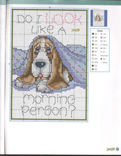 Cross-stitch Morning Person?? ... Gallery.ru / Foto # 80 - Las Labores de Ana 144 - tymannost