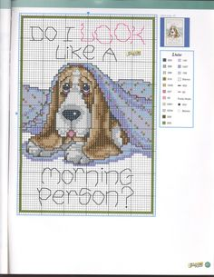 Cross-stitch Morning Person?? ... Gallery.ru / Foto # 80 - Las Labores de Ana 144 - tymannost