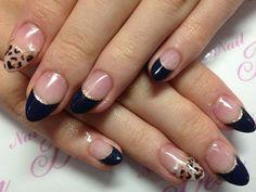フレンチヒョウ 【Dear 新宿店】 http://nail-beautynavi.woman.excite.co.jp/design/detail/4507?pint ≪ #nail #nails #nailart #softgel #animal #フレンチネイル #秋ネイル #ヒョウ柄  ≫