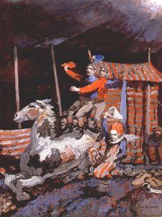 """Jack Butler Yeats (1871-1957): """"The Double Jockey Act"""""""