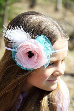 Vintage Flower Headband Floral Headband Girl by LovelyFlowersField, Vintage Headbands, Handmade Headbands, Floral Headbands, Baby Headbands, Handmade Gifts, Vintage Flowers, Pink Flowers, Trending Outfits, Unique Jewelry