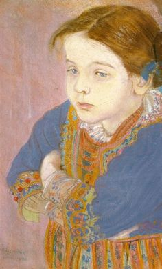 Portrait of Helenka in a Folk Costume, 1901 by Stanisław Wyspiański on Curiator, the world's biggest collaborative art collection. Russian Painting, Figure Painting, Painting & Drawing, Portrait Art, Portraits, Art Nouveau, Collaborative Art, Art And Architecture, Figurative Art