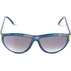 Pre-owned Yves Saint Laurent Vintage marbled sunglasses ($210) ❤ liked on Polyvore featuring accessories, eyewear, sunglasses, blue, vintage sunglasses, cat eye sunglasses, plastic glasses, vintage glasses and blue glasses
