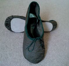 GrandGear Ballet Slippers Custom Made from Fabric provided by Client.