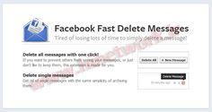 Facebook Fast Delete Messages - Delete All Facebook Messages with one click