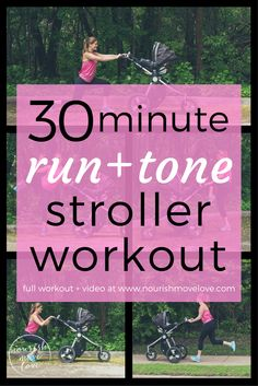 30 Minute Outdoors Cardio + Strength Mommy + Me Stroller Workout. Walk, job, or run Post Baby Workout, Post Pregnancy Workout, Fit Pregnancy, Mom Workout, Squats And Lunges, Oblique Crunches, Chair Workout, Yoga Sculpt