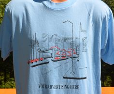 vintage 80s tee shirt YOUR ADVERTISING here funny ad by skippyhaha, $16.00