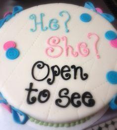 Gender cake!