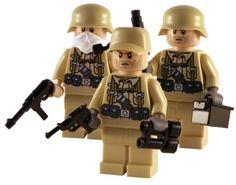 WW2 - Afrika Korps 3 Man Squad - Custom Lego Minifigs