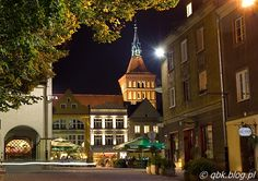 Olsztyn by night.