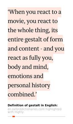 Yijunu0027s 1 Highlight (11s Read) In Gestalt   Definition Of Gestalt In  English  