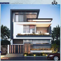House Arch Design, 3 Storey House Design, Architect Design House, House Outside Design, Architecture Building Design, Home Building Design, Bungalow House Design, Balcony Design, Modern Bungalow