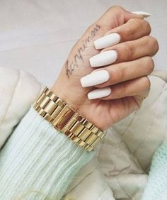I always love all white nails but I'm never sure if I can pull it off!! :/