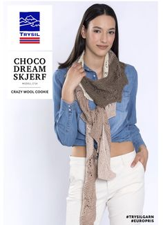FREE PATTERN (in Norwegian) | chunky lace scarf by Helle Slente Design/ House of Yarn - Europris My Design, House Design, Lace Scarf, Free Pattern, Plaid, Fashion, Threading, Chess, Moda