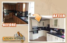 Kitchen Respray is the Dublin, Ireland's leading kitchen, furniture respraying, restoration and refurbishment company. Repainting Kitchen Cabinets, Clean Kitchen Cabinets, Tidy Kitchen, Kitchen Sale, Kitchen Paint, New Kitchen, Kitchen Ideas, Kitchen Respray, Dix Blue