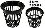 NP2AB: 2 Inch Black Slotted Mesh Net Pot for Hydroponics/Aquaponics/Orchids  50 Pack
