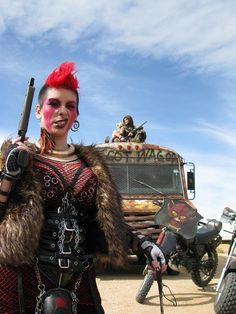 From Wasteland Weekend Apocalypse Fashion, Apocalypse World, Post Apocalyptic Costume, Post Apocalyptic Fashion, Mad Max, Fallout, Wasteland Warrior, Dystopia Rising, Wasteland Weekend