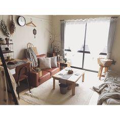 ローテーブル/クッション/ヴィンテージ/ソファ/賃貸/暮らしを楽しむ…などのインテリア実例 - 2017-08-21 20:44:02 | RoomClip(ルームクリップ)