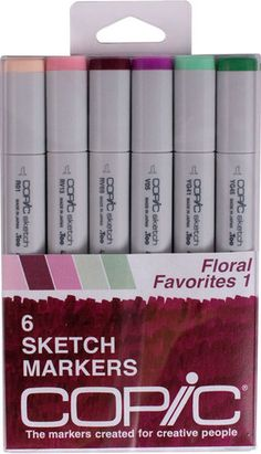 Copic Sketch Markers - Floral Favorites Set 1