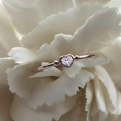 """118 Likes, 4 Comments - Emmanuelle Zysman (@emmanuellezysman) on Instagram: """"Sweetheart ring #loveisall #heartcutdiamond #antiquesetting #gold #hammeredgold #engagementring…"""""""