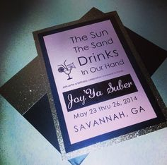 Need custom invitations? Check out www.bossydesigns.com.