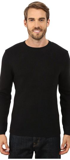 Toad&Co Emmett Crewneck Sweater (Black) Men's Sweater - Toad&Co, Emmett Crewneck Sweater, T2071500-100, Apparel Top Sweater, Sweater, Top, Apparel, Clothes Clothing, Gift, - Fashion Ideas To Inspire
