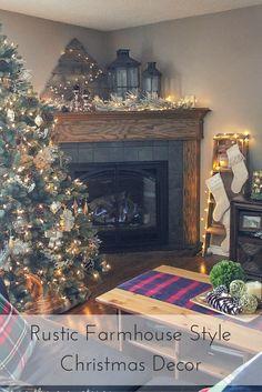A Rustic Farmhouse Syle Christmas Home Tour