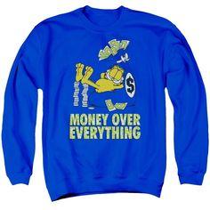 Garfield - Money Is Everything Adult Crewneck Sweatshirt