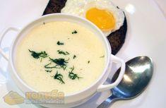 Підбивані крумплі. Білий суп