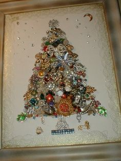 Costume jewelry tree christmas