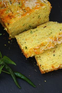 Zucchini Cornbread... Minus the peppers for me though!