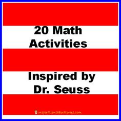 20 Math Activities Inspired by Dr. Seuss