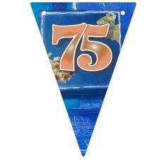 75th birthday bunting bannner bunting flags