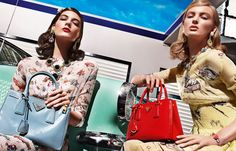 Prada SS12: Hot rod prints galore. I love how they styled the models' hair and makeup for this campaign too.