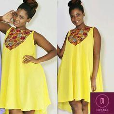Cute Maternity Dress ~DKK ~African fashion, Ankara, kitenge, African women dresses, African prints, African men's fashion, Nigerian style, Ghanaian fashion.