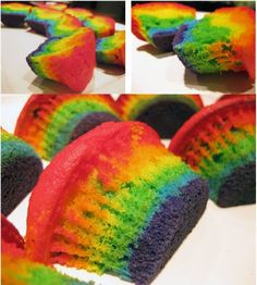 Wizard of Oz Rainbow Cupcakes
