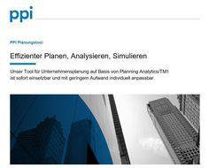PPI #Planungstool: Effizienter Planen, Analysieren, Simulieren #PPIAG