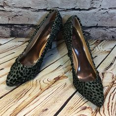 "JUST FABULOUS FABRIC PUMPS/SHOES These are NWOB and super HOTTTT. Gray and black animal print with a 4.5"" heel  SS-1 JustFab Shoes Heels"