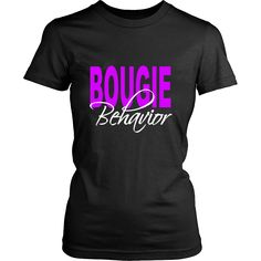 10e6fda54aa0 Bougie Behavior Black and Purple T-shirt Greys Anatomy Gifts