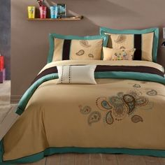 Europe Embroidered queen Full size bedding set