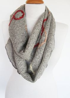 Grey Infinity Wool Scarf Christmas Gift by mediterraneanlights, $26.00