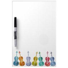 Multicolored Cellos Dry-Erase Whiteboard #mutlicolored #cellos #dry-erase #whiteboard