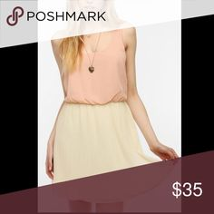 Pleated chiffon Urban Outfitters dress Blush draped top with contrasting flowy cream skirt Pins & Needles Dresses Mini