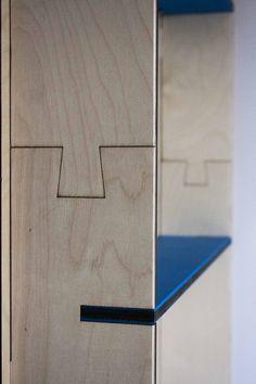 Plywood wardrobe detail | TOTEM