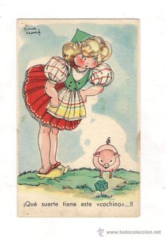 MARI-PEPA - vintage illustration by Maria Claret
