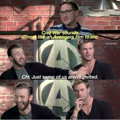 Captain America: Civil War sounds like another Avengers film, but some aren't invited.  Poor Chris Hemsworth.