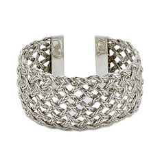 Shining prospects for silver jewellery Sterling Silver Cuff, Silver Rings, Braid Cuffs, Braid Designs, Silver Jewellery Indian, Silver Bars, Criss Cross, Jewelry Design, Wedding Rings