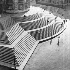 "poetryconcrete: ""Stairs of Basilica S. Maria Maggiore, by the architect Carlo Rainaldi, 1675, in Rome, Italy. """