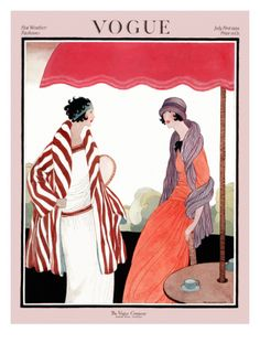 Vogue Cover - July 1922 Premium Giclee Print by Helen Dryden at Art.com